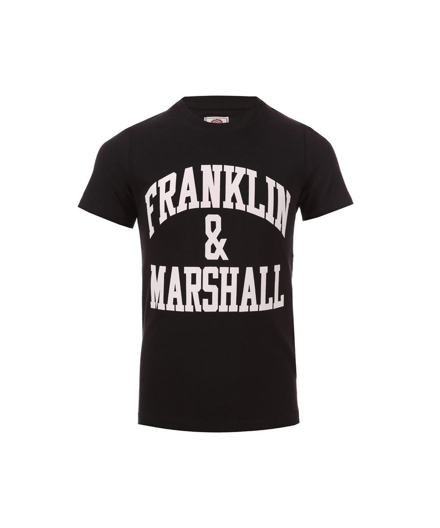 Image for Boy's Franklin And Marshall Infant F & M Logo T-Shirt in Black