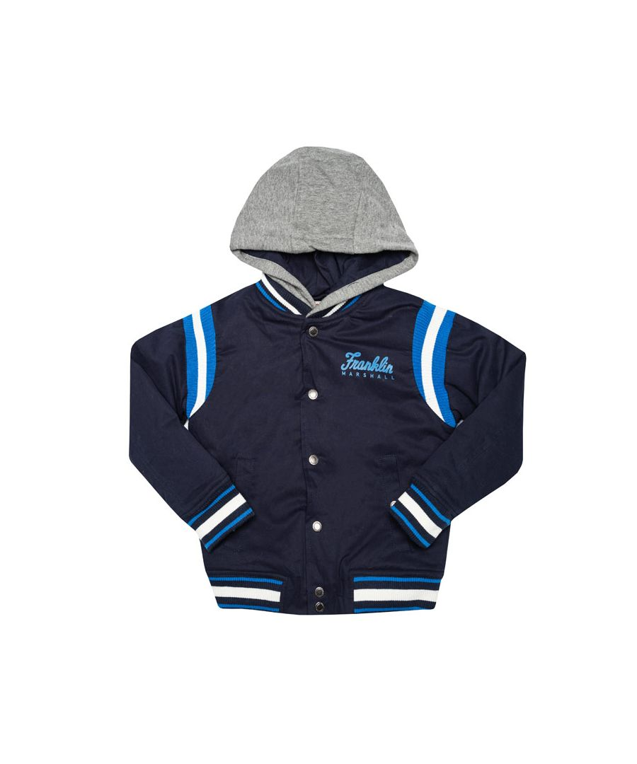 Image for Boy's Franklin And Marshall Infant Varsity Jacket in Navy