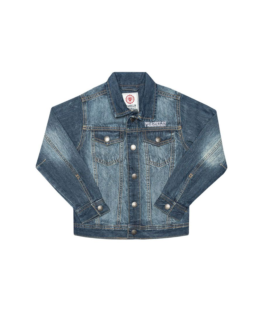 Image for Boy's Franklin And Marshall Junior Faded Denim Jacket in Denim