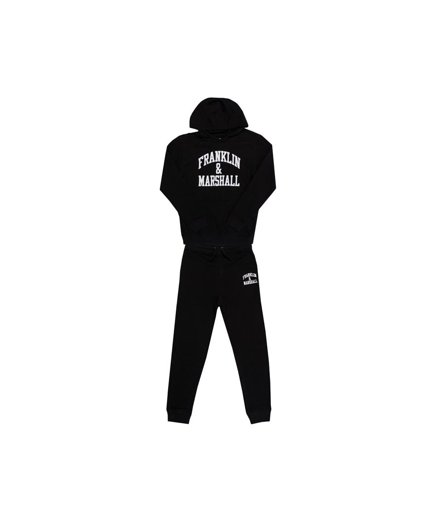 Image for Boy's Franklin And Marshall Junior F and M Tracksuit in Black