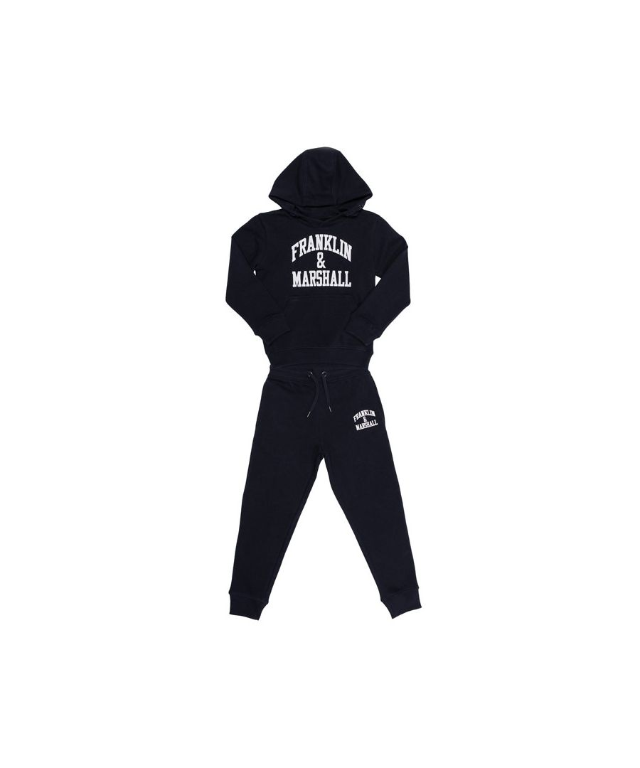 Image for Boy's Franklin And Marshall Junior F and M Tracksuit in Navy