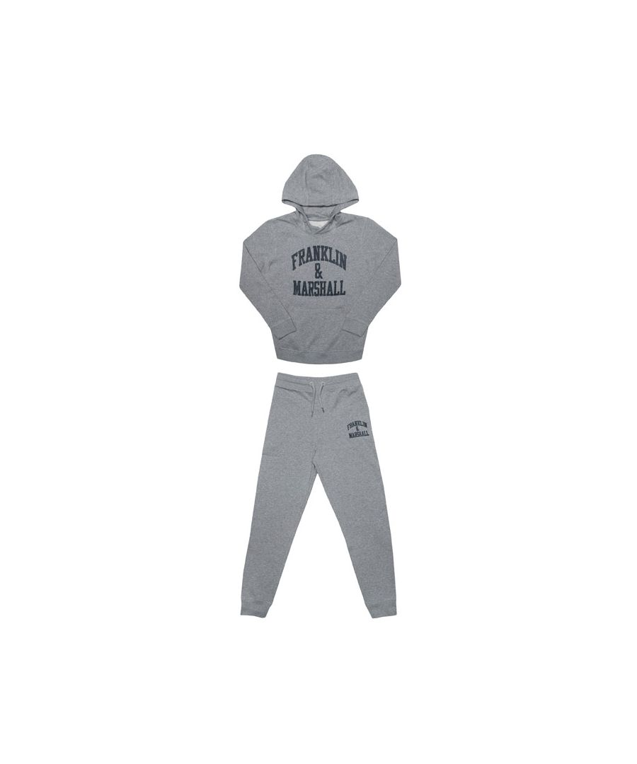Image for Boy's Franklin And Marshall Junior F and M Tracksuit in Grey
