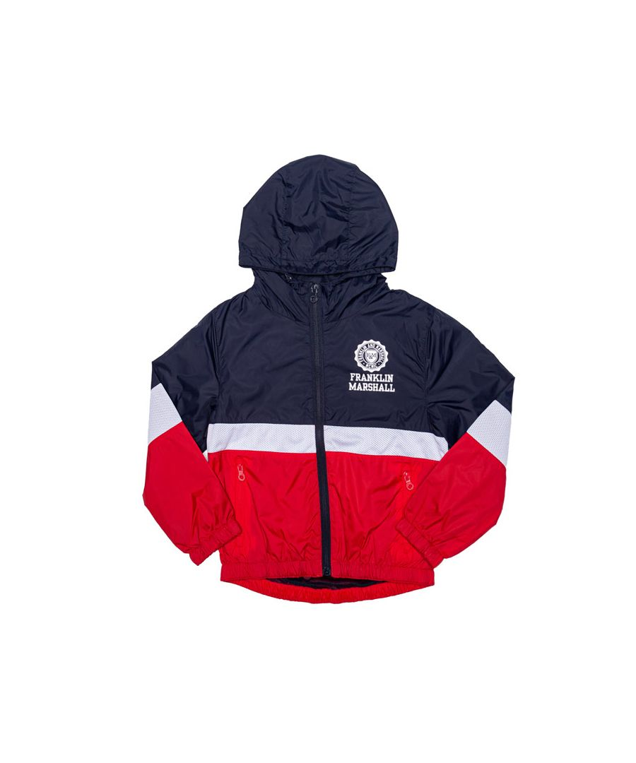 Image for Boy's Franklin And Marshall Junior Mesh Windcheater Jacket in Navy