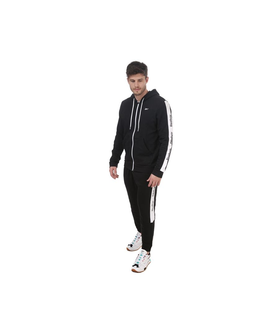 Image for Men's Reebok Training Essentials Linear Logo Tracksuit in Black