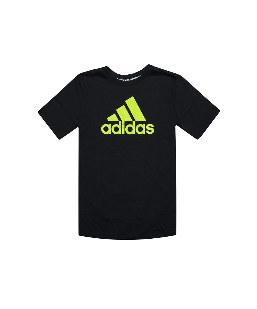 Image for Boy's adidas Junior Must Haves BOS T-Shirt in Black