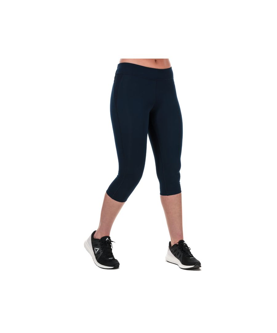 Image for Women's Reebok Workout Ready Capri Tights in Navy