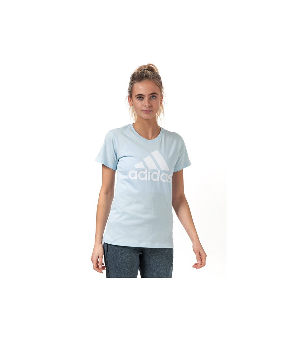 Image for Women's adidas Must Haves Badge Of Sport T-Shirt in Sky Blue