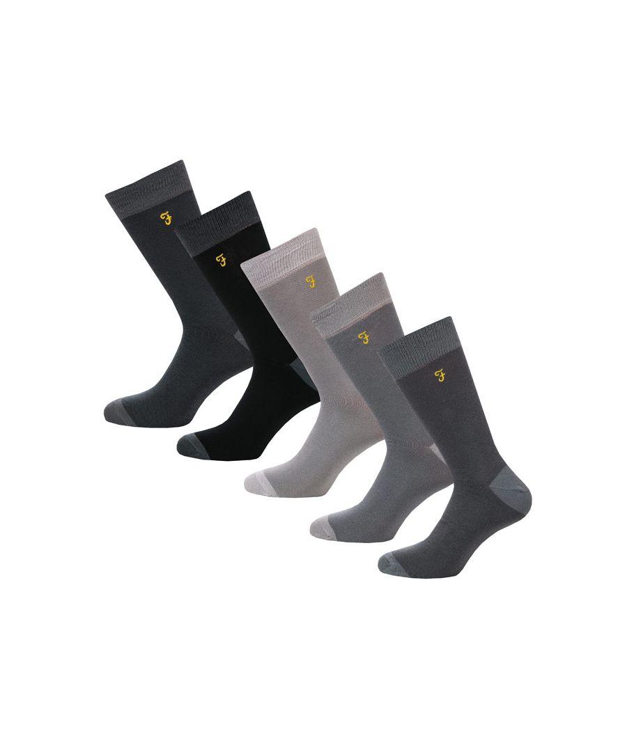 Image for Men's Farah Winston 5 Pack Socks in Grey