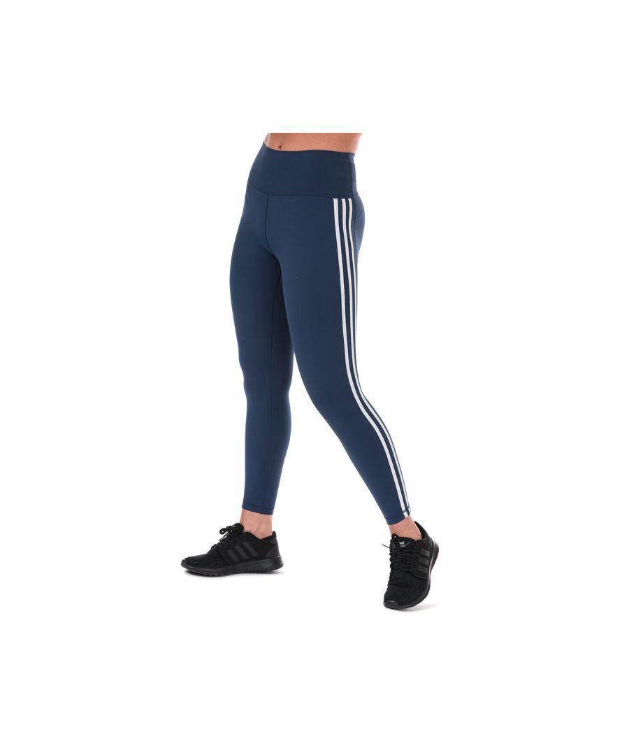 Image for Women's adidas Believe This 2.0 3-Stripes Leggings in Indigo