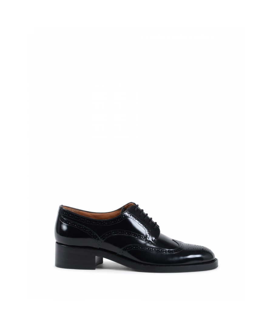 Image for Fratelli Rossetti Womens Brogue Shoe Black 66411 LADY BOX NERO