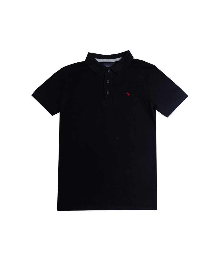 Image for Boy's Farah Junior Bugsworth Polo Shirt in Black