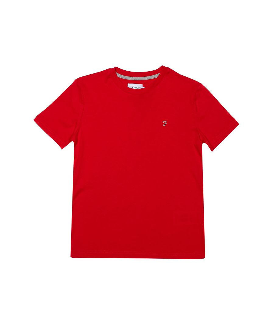 Image for Boy's Farah Junior Denny T-Shirt in Red