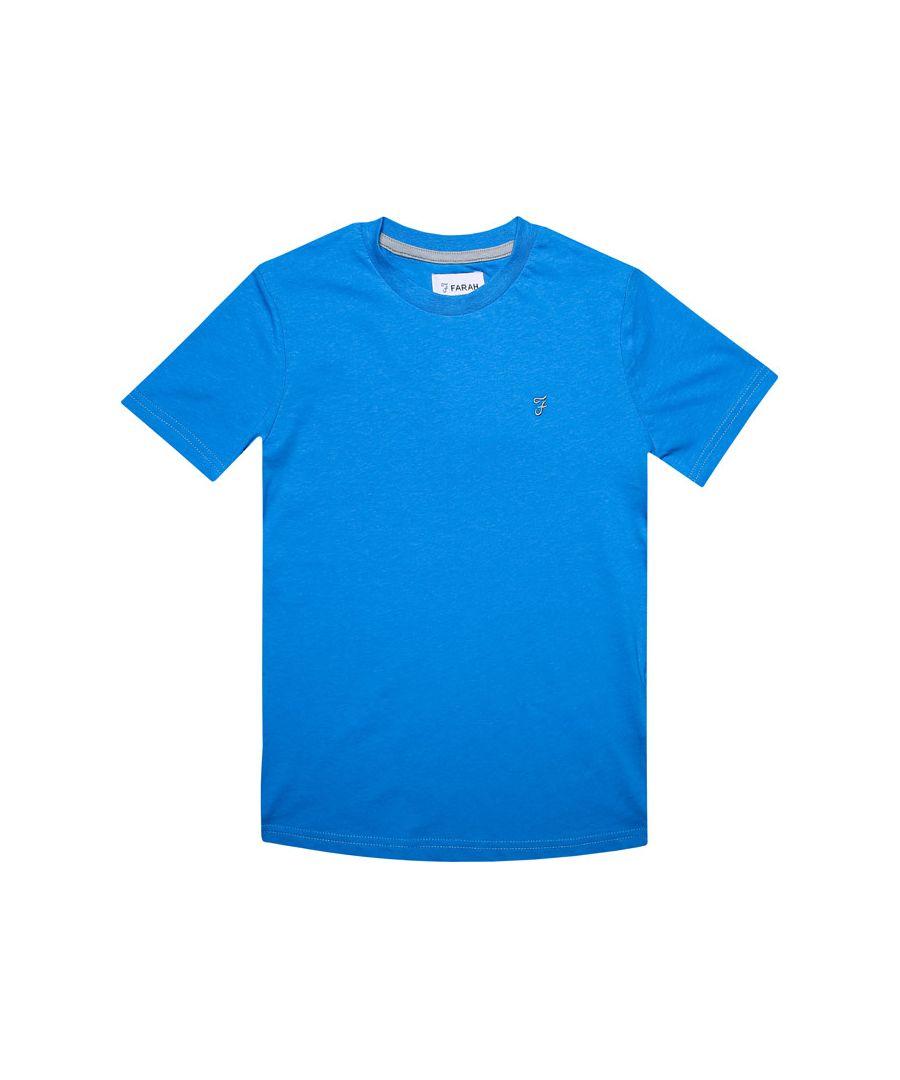 Image for Boy's Farah Junior Denny T-Shirt in Blue