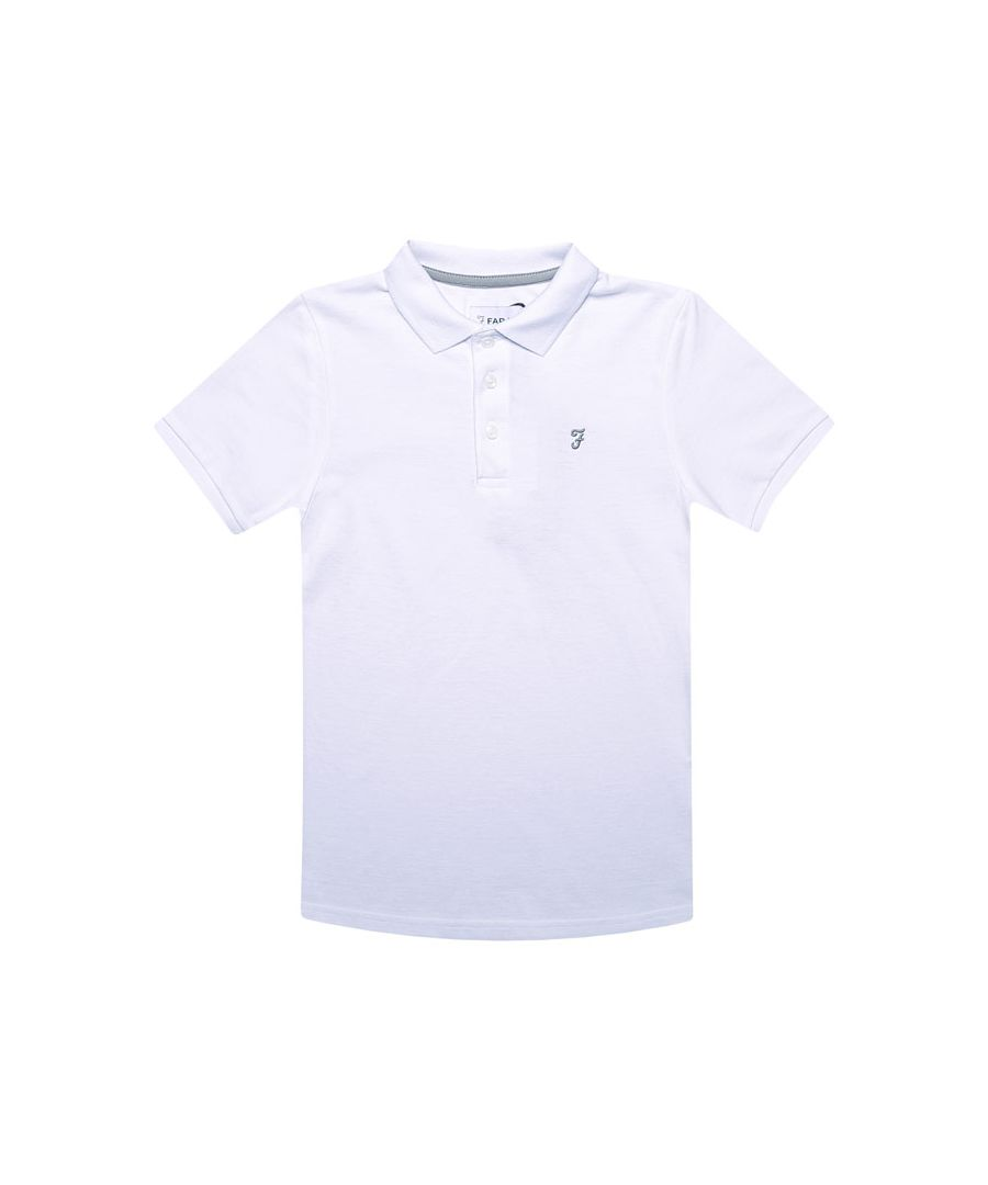 Image for Boy's Farah Junior Bugsworth Polo Shirt in White