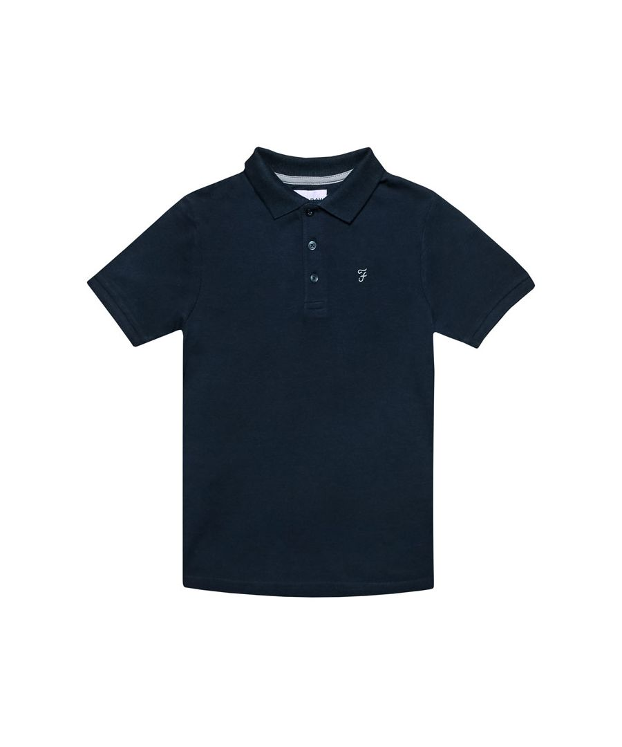 Image for Boy's Farah Junior Bugsworth Polo Shirt in Navy