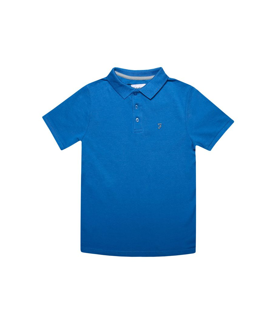 Image for Boy's Farah Junior Bugsworth Polo Shirt in Blue