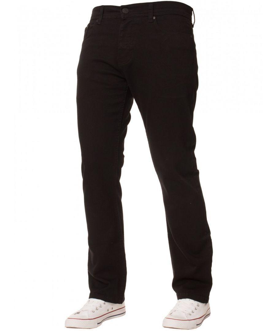 Image for Enzo Men's Regular Fit Stretch Denim Jeans