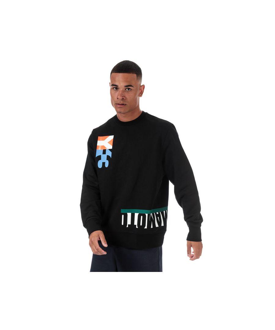 Image for Men's Y-3 Multi Cut Graphic Crew Sweatshirt in Black
