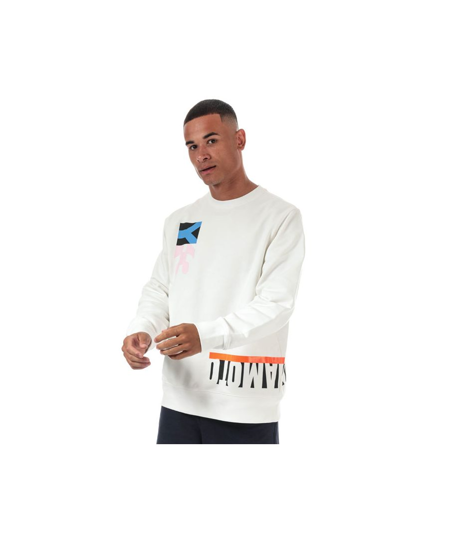 Image for Men's Y-3 Multi Cut Graphic Crew Sweatshirt in White