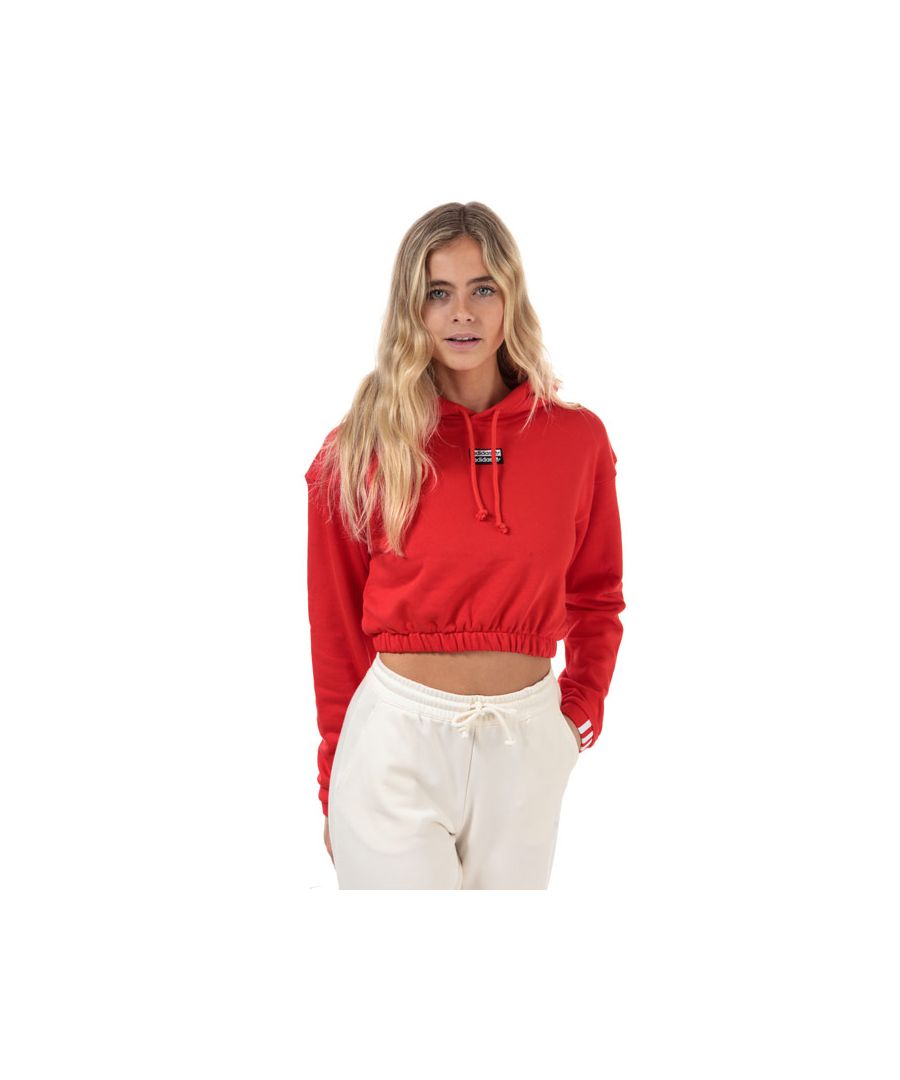 Image for Women's adidas Originals Cropped Hoody in Red