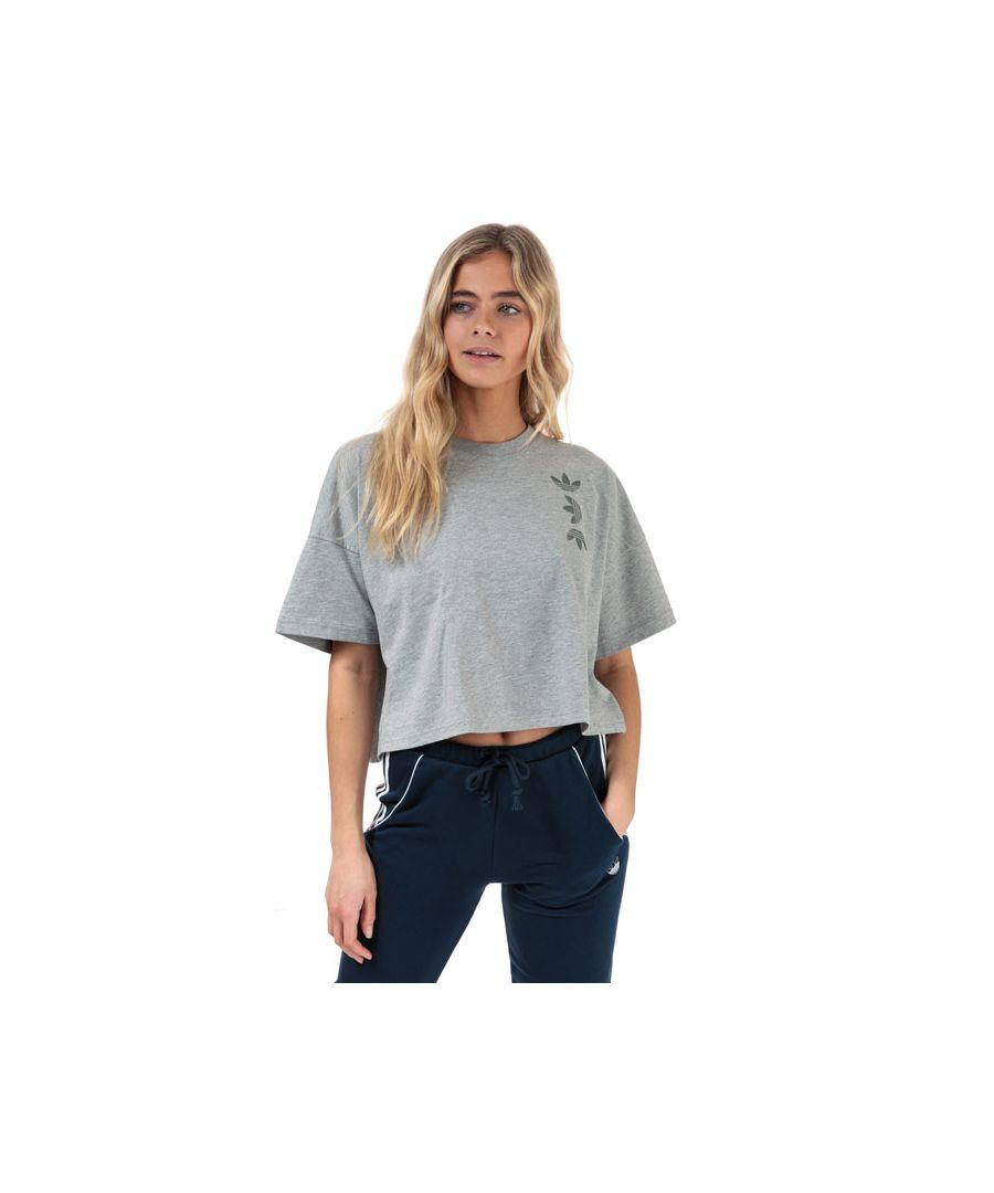 Image for Women's adidas Originals Large Logo T-Shirt in Grey Marl
