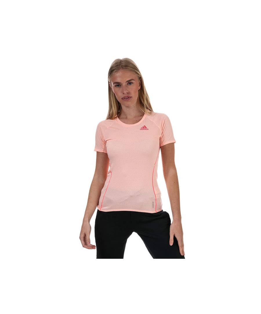 Image for Women's adidas Runner T-Shirt Coral 4-6in Coral