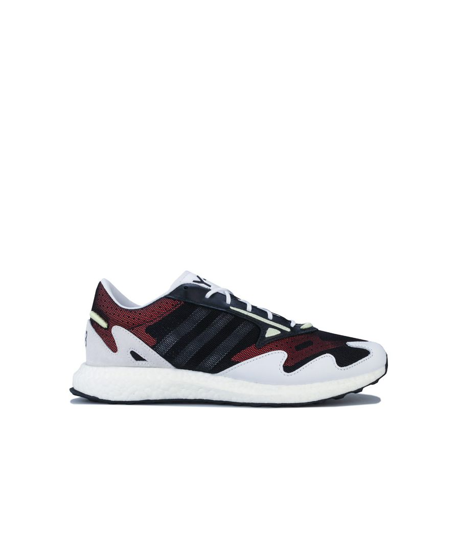 Image for Men's Y-3 Rhisu Run Trainers in Black-White