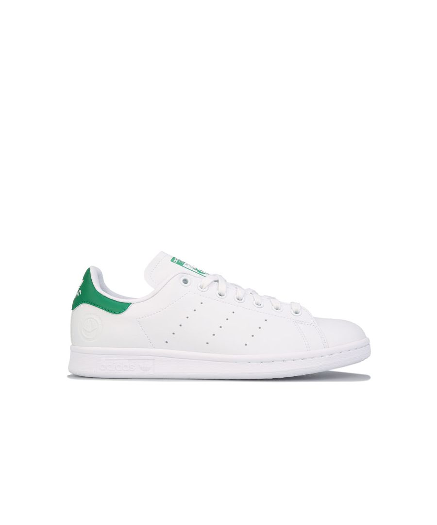 Image for Men's adidas Originals Stan Smith Vegan Trainers White Green UK 4.5in White Green