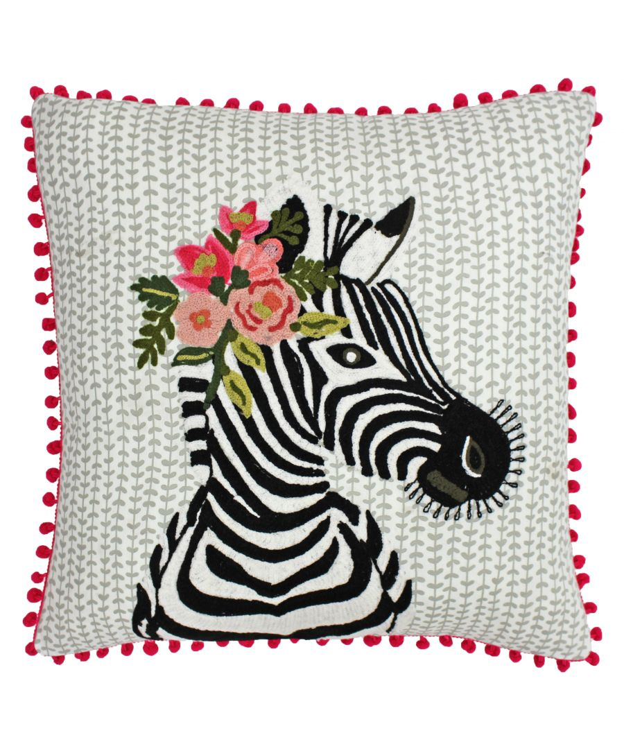 Image for Funky Zebra 45X45 Poly Cushion Mult