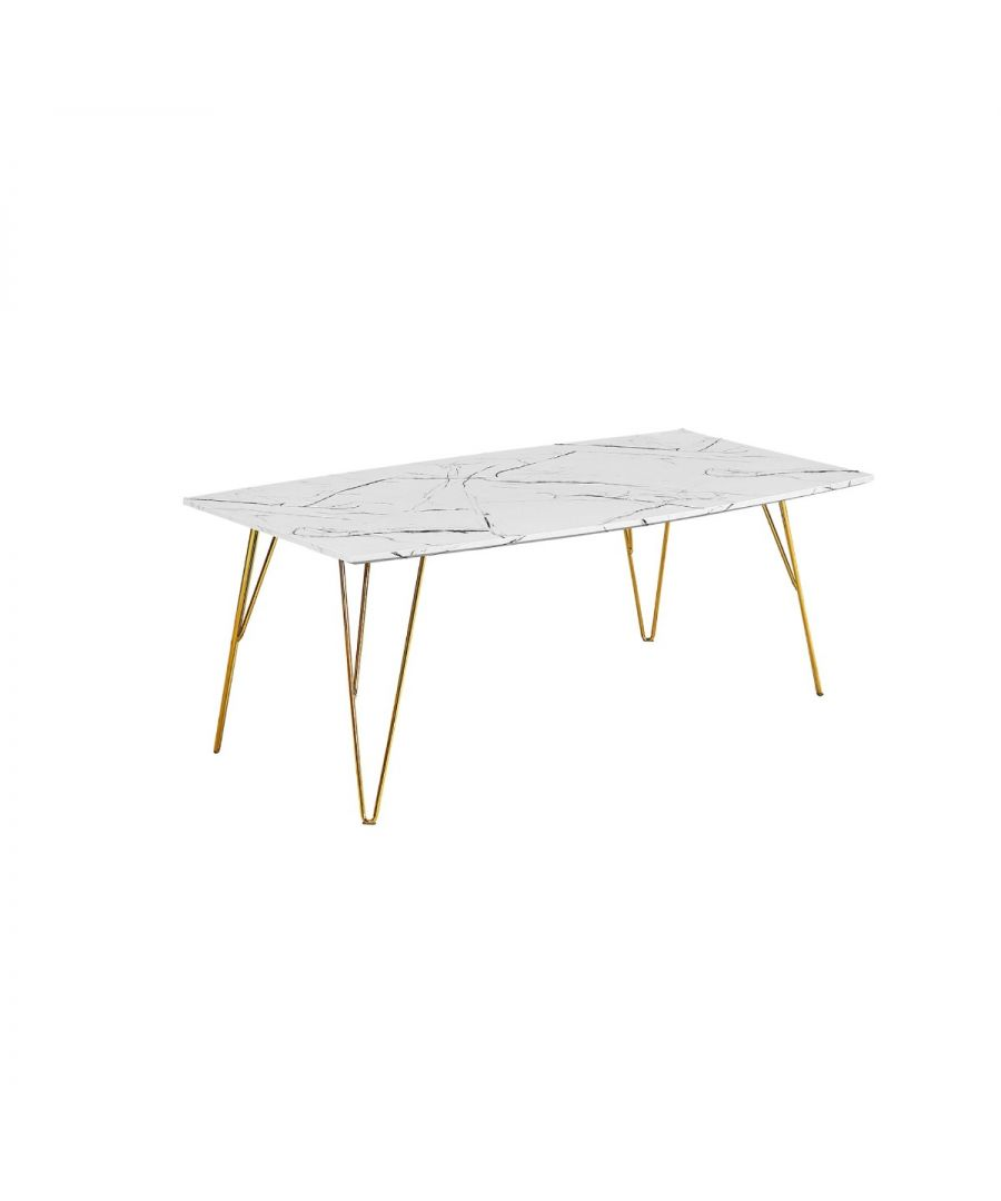 Image for Fushion Coffee Table Marble White