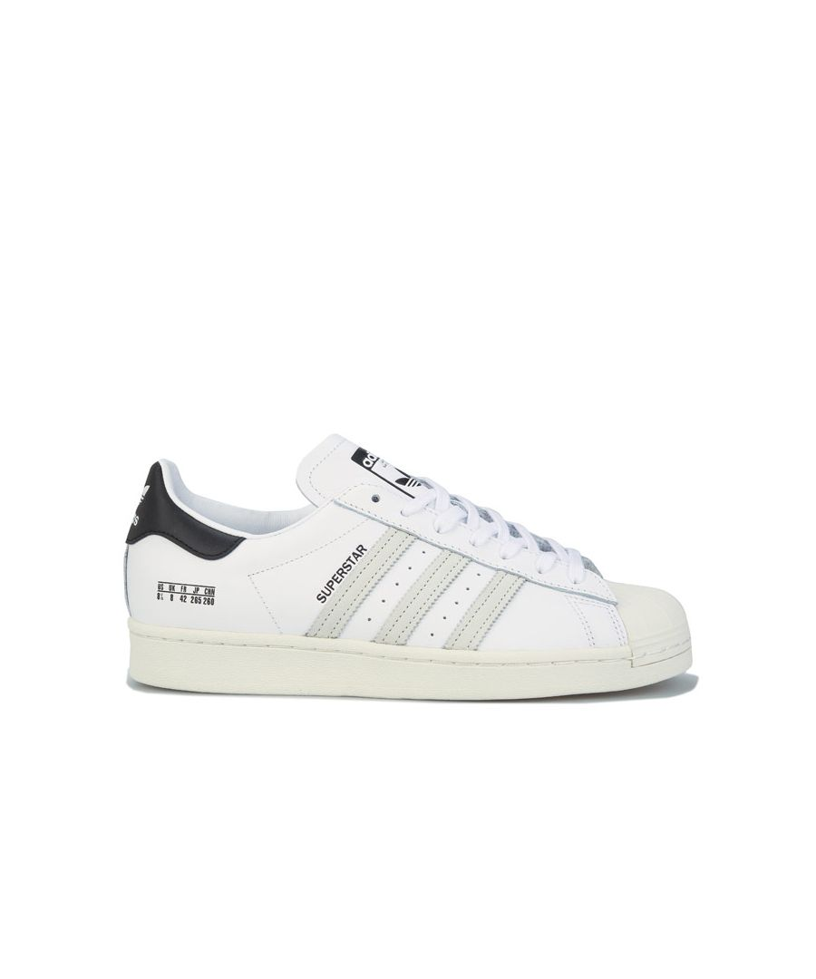 Image for adidas Originals Superstar Trainers in White Black