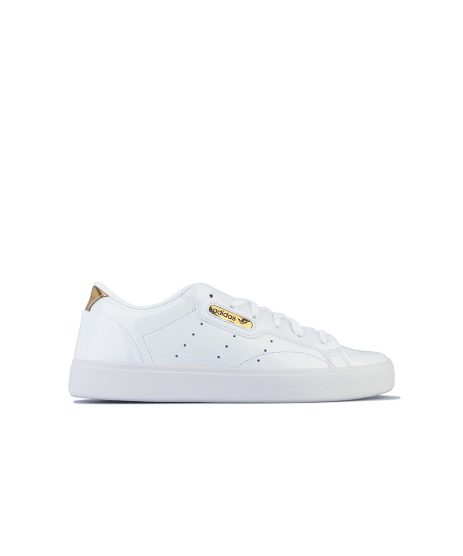 Image for Women's adidas Originals Sleek Trainers in White gold