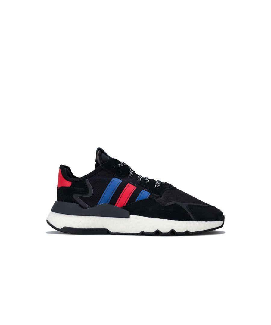 Image for Men's adidas Originals Nite Jogger Trainers in Black Royal