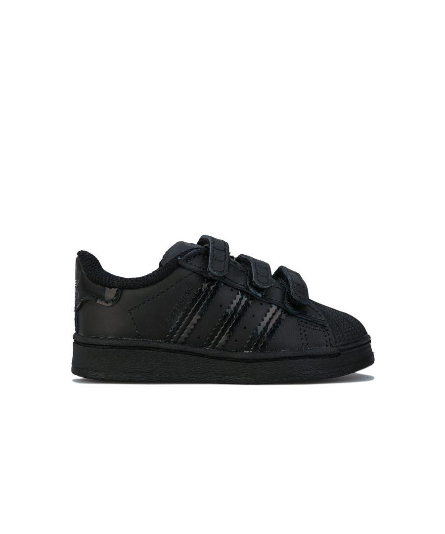 Image for Boy's adidas Originals Infant Superstar Trainers in Black