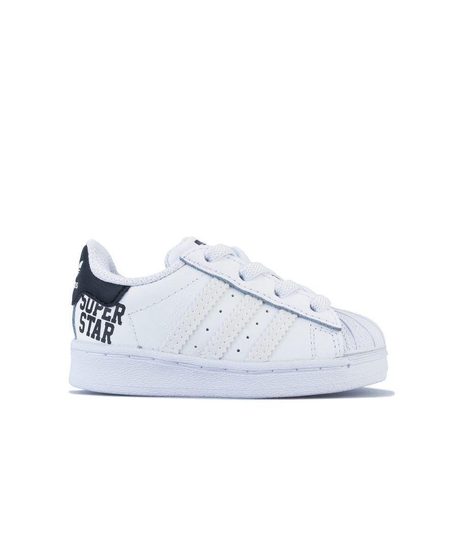 Image for Boy's adidas Originals Infant Superstar Trainers in White Black