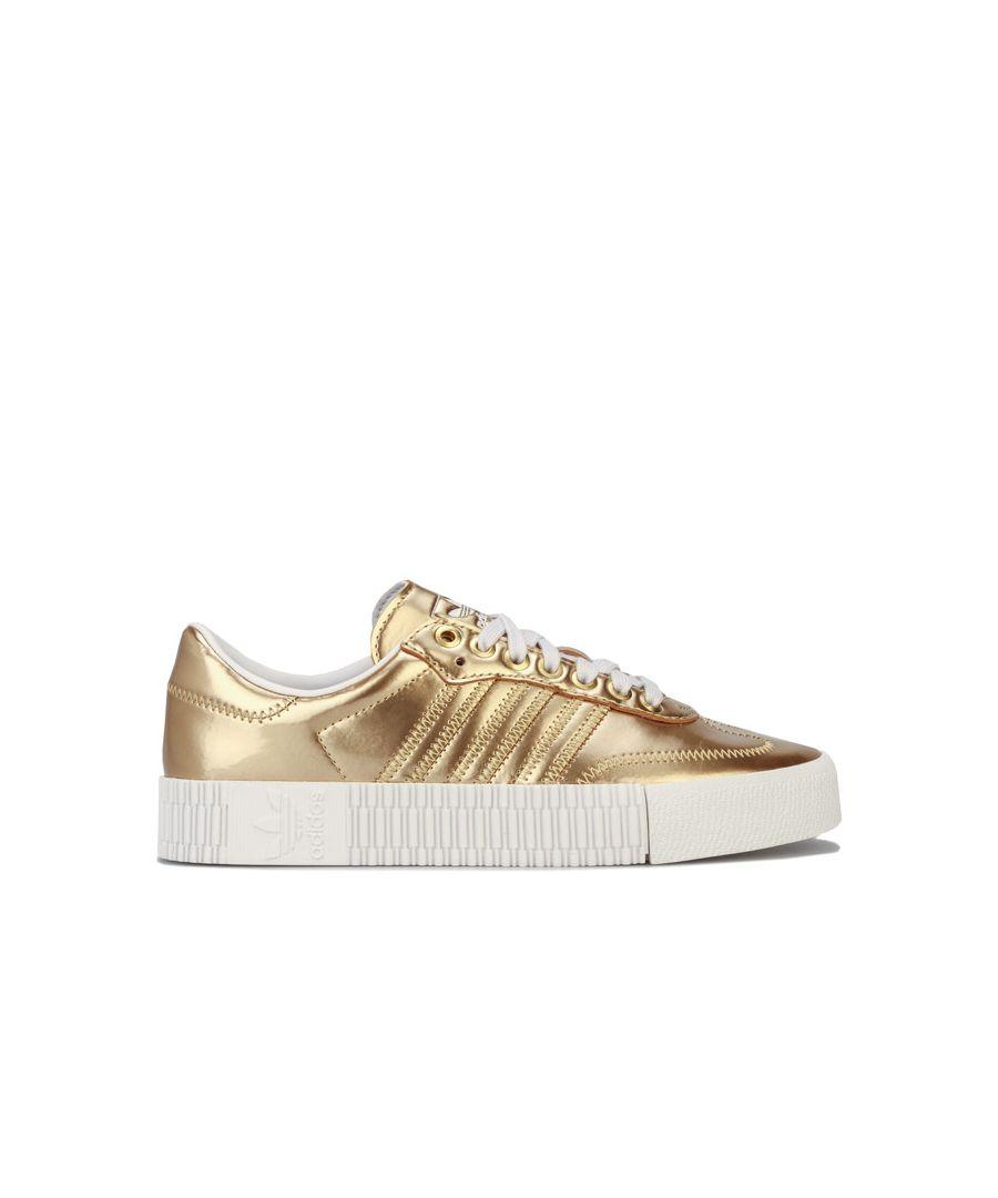 Image for Women's adidas Originals Sambarose Trainers in Gold