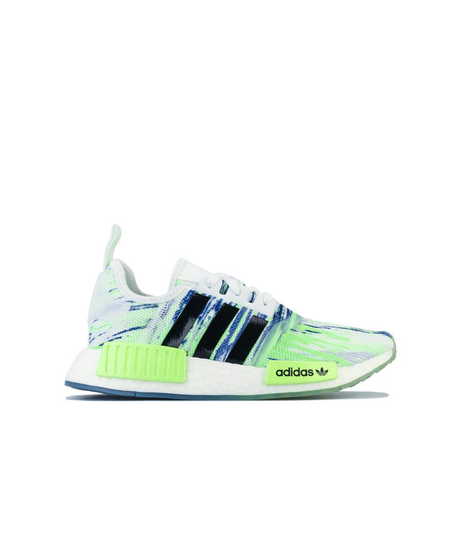 Image for Boy's adidas Originals Junior NMD R1 Trainers in Green