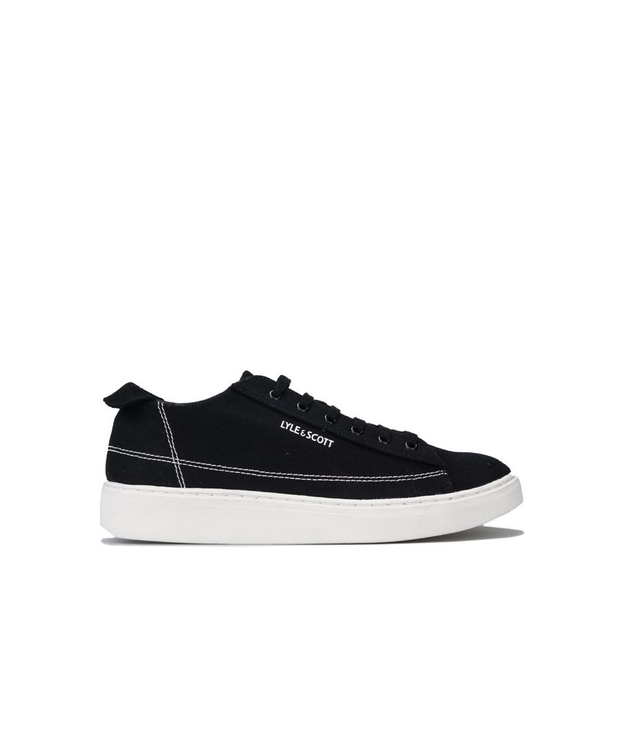 Image for Men's Lyle And Scott Shankly Canvas Pumps in Black