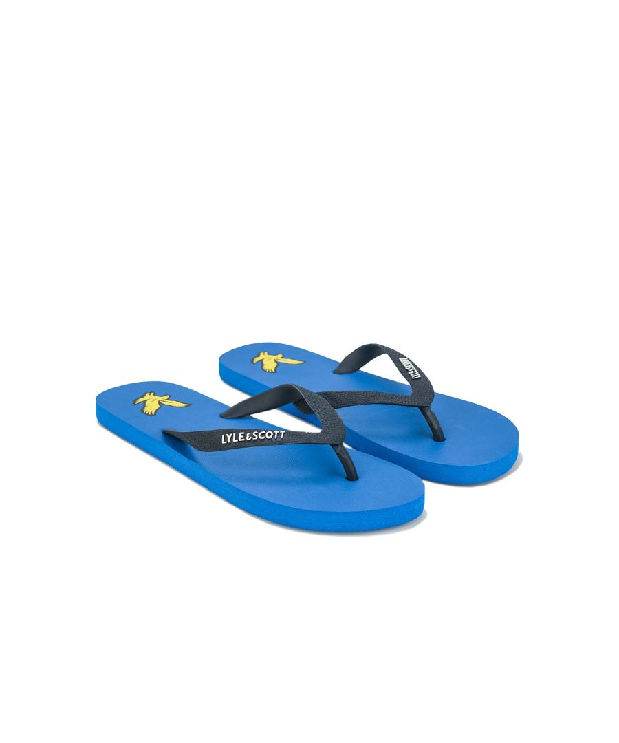 Image for Men's Lyle And Scott Flip Flops in Blue