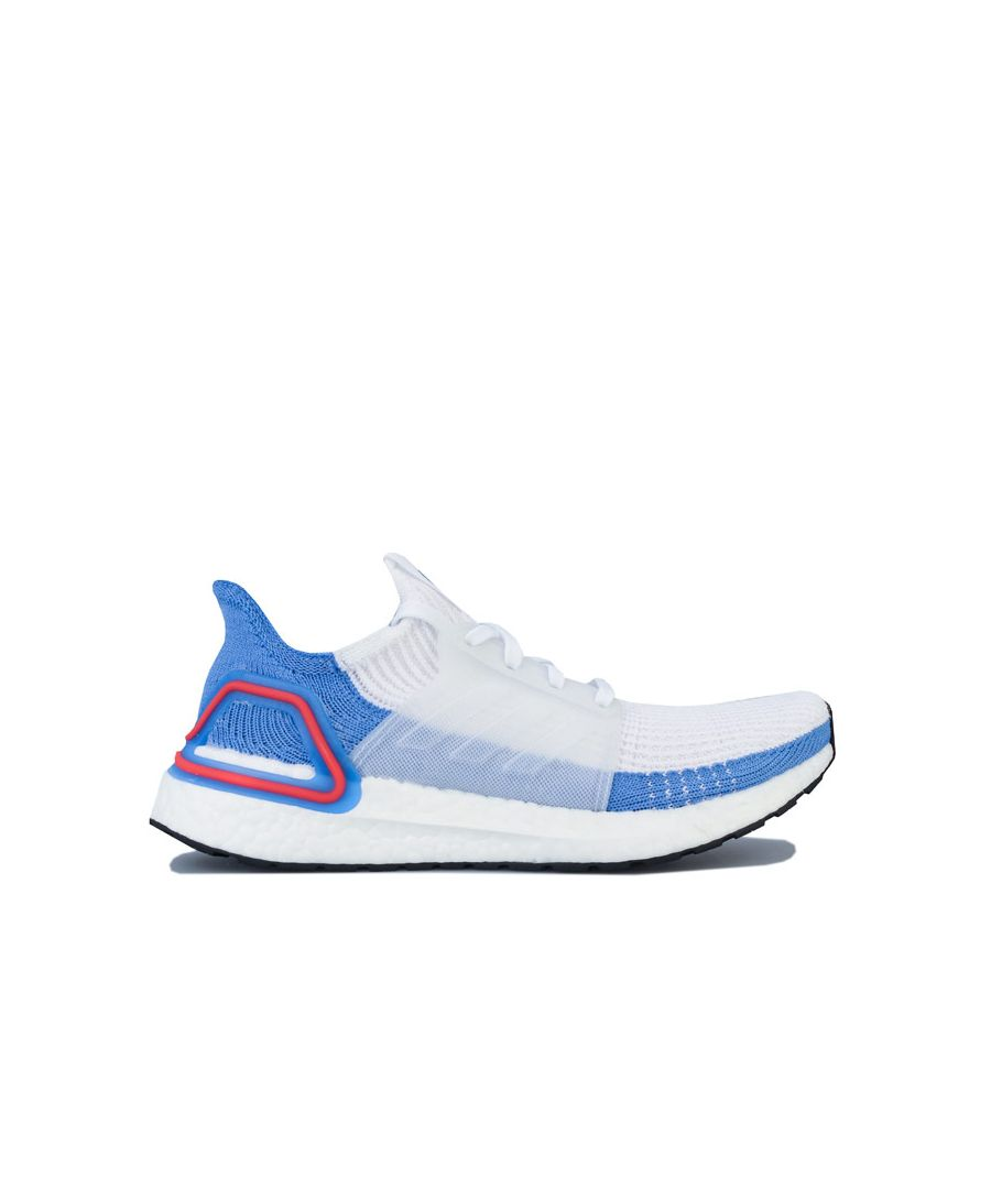 Image for Women's adidas Ultraboost 19 Running Shoes in White blue