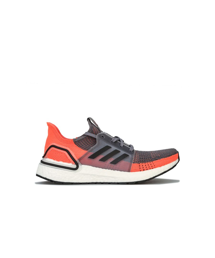 Image for Men's adidas Ultraboost 19 Running Shoes in Grey orange