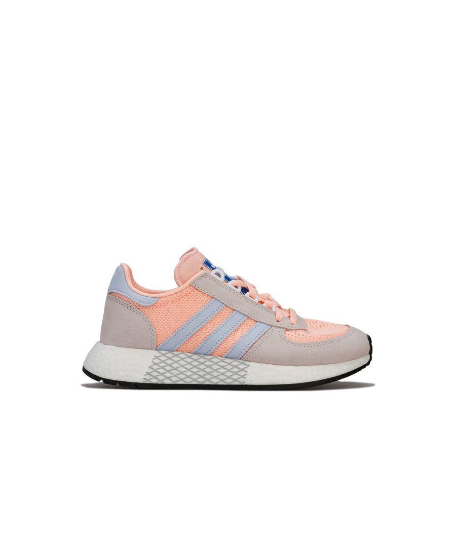 Image for Women's adidas Originals Marathon Tech Trainers in Peach