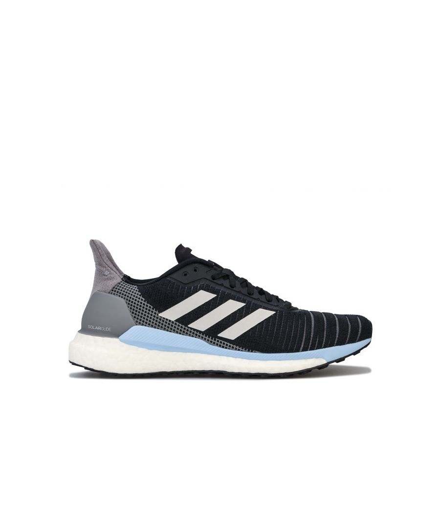 Image for Women's adidas Solar Glide 19 Running Shoes in black blue