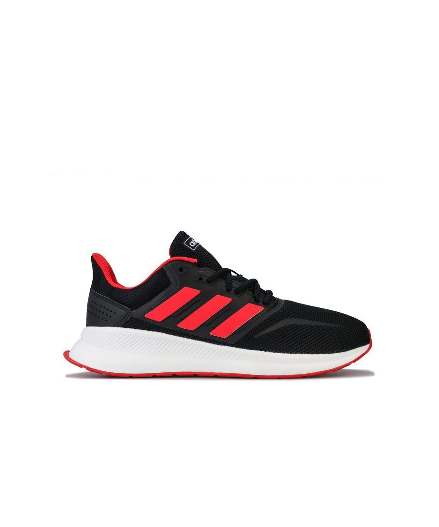 Image for Men's adidas Originals Run Falcon Trainers in Black Red