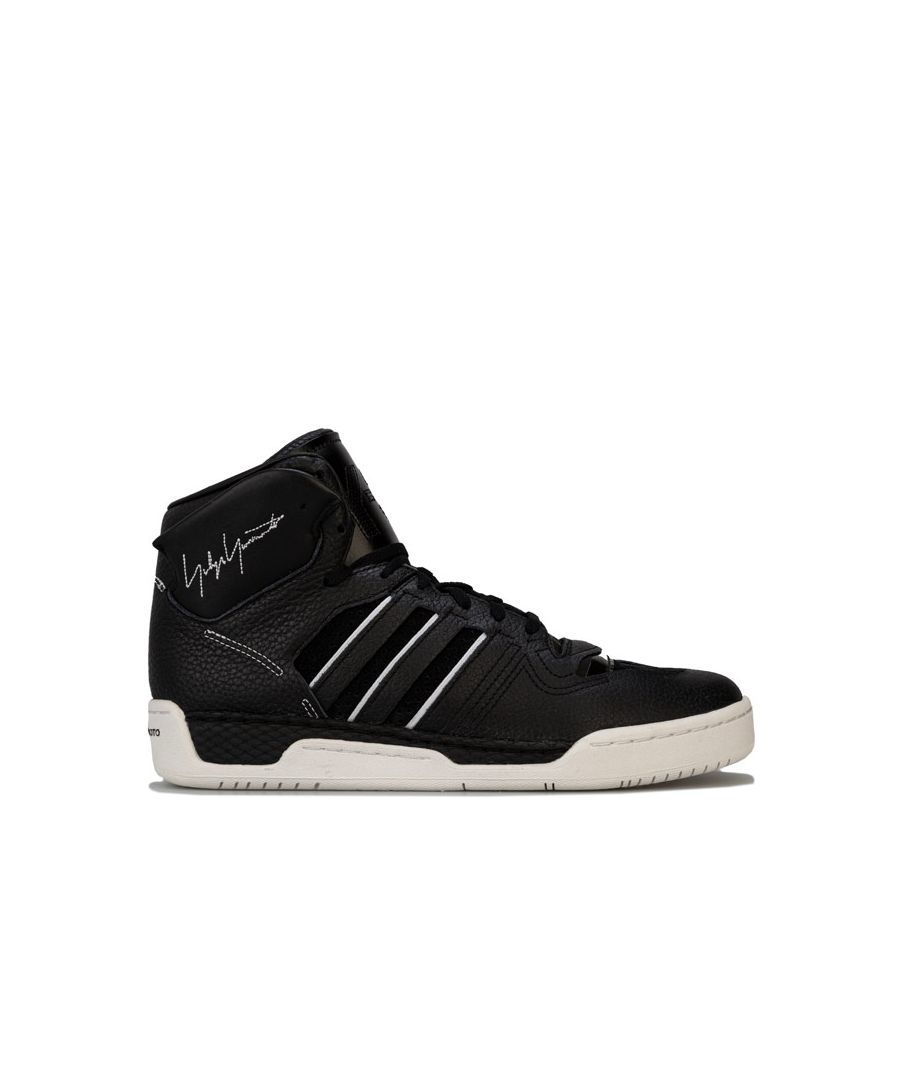 Image for Men's Y-3 Hayworth High Top Trainers in Black-White