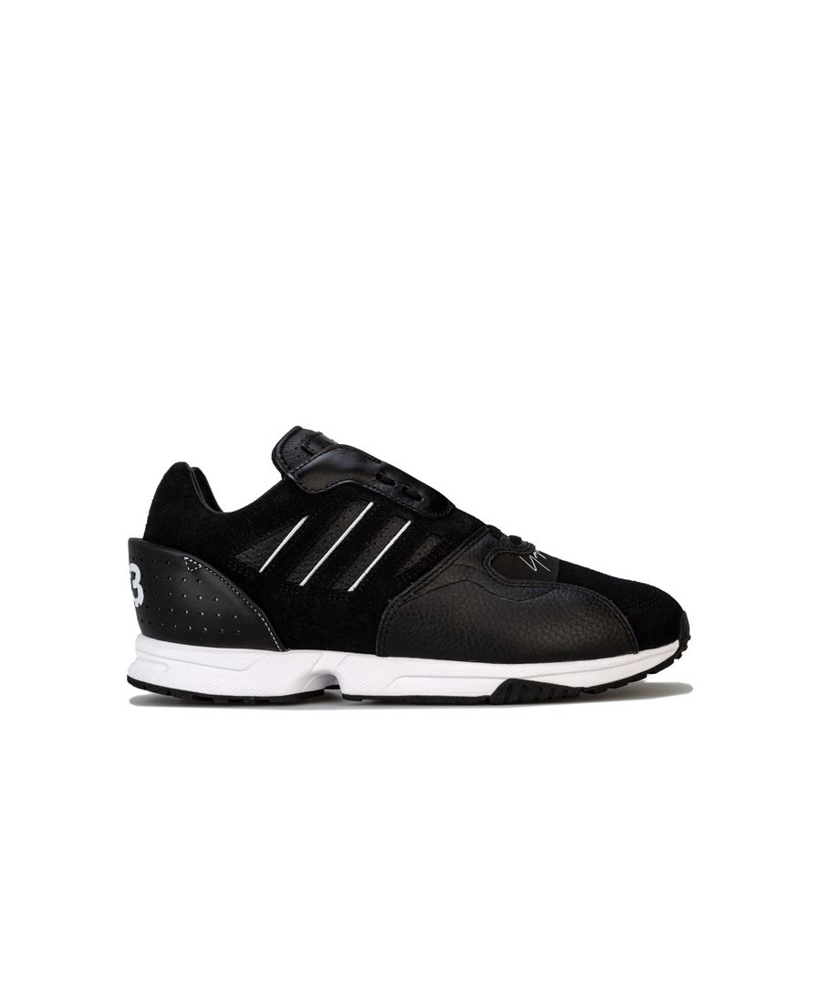 Image for Men's Y-3 ZX Run Trainers in Black-White
