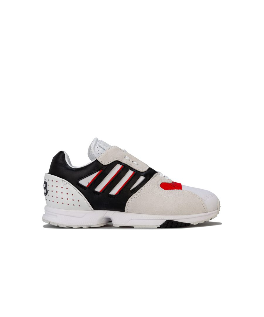 Image for Men's Y-3 ZX Run Trainers in White red black