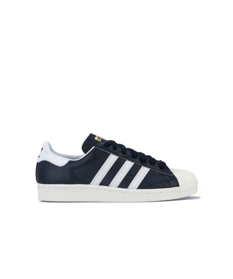 Image for adidas Originals Superstar 80s Trainers in Black-White