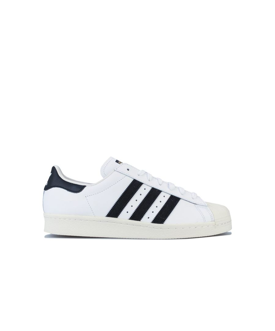 Image for Men's adidas Originals Superstar 80s Trainers in White Black
