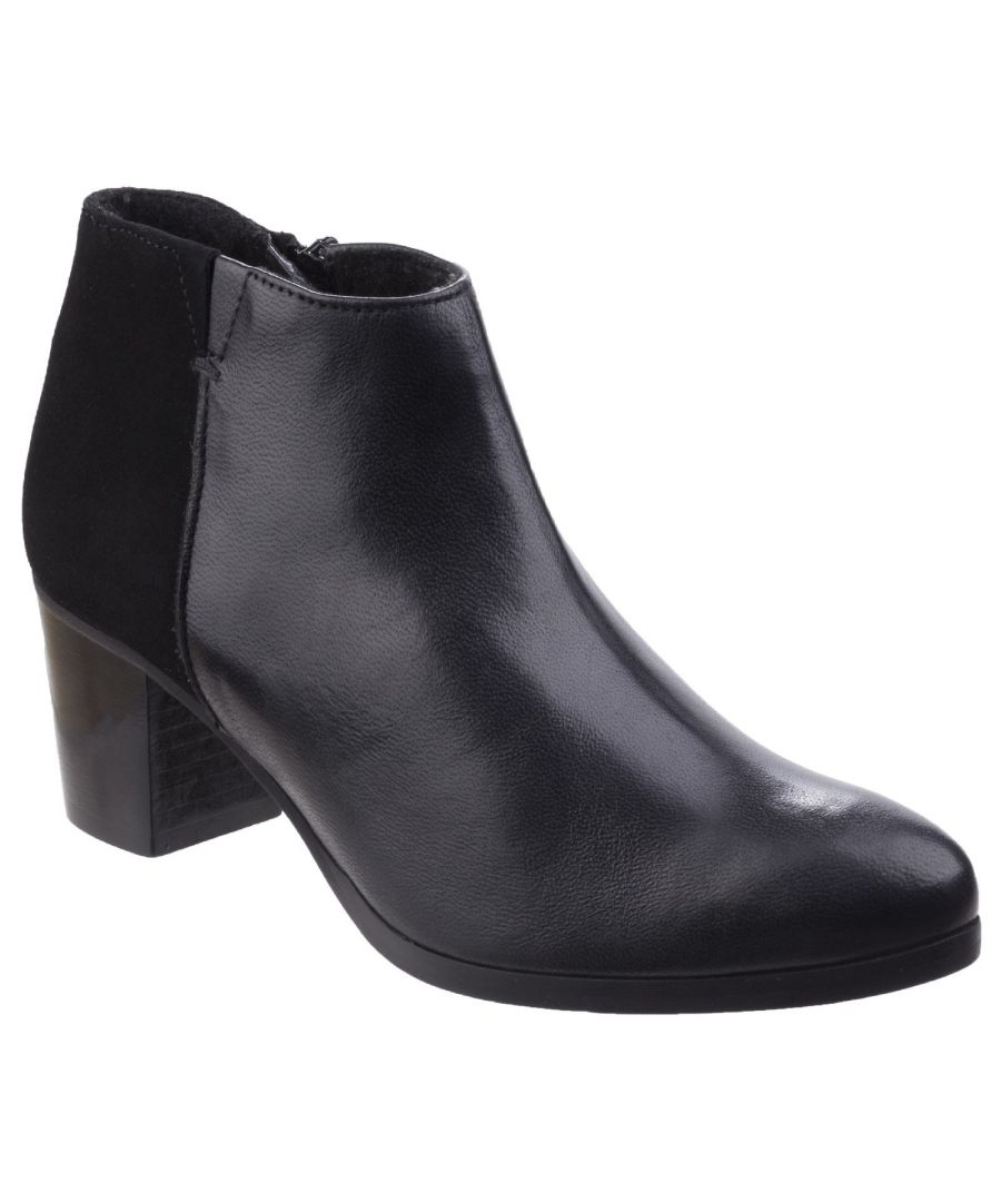Image for Claudia Leather/Suede Ankle Boot